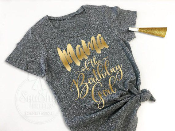 You've spent countless hours planning her big day, you definitely deserve this awesome Mama of the Birthday Girl Shirt! Made in a super soft, trendy charcoal heather grey, in the flattering scoop neck