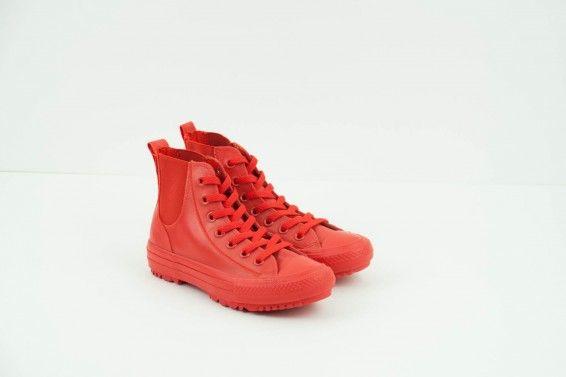 Zapatilla botín Converse rojo