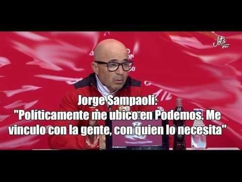 """Jorge Sampaoli (Entrenador del Sevilla F.C.): """"ME UBICO EN PODEMOS, CON ..."""