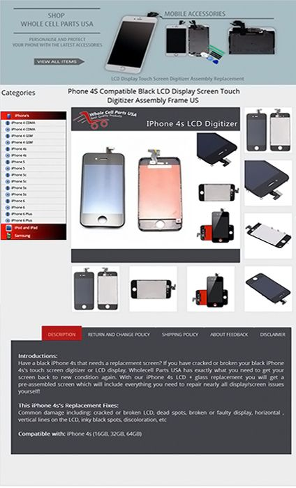 Ebay static page selling store Designing and development