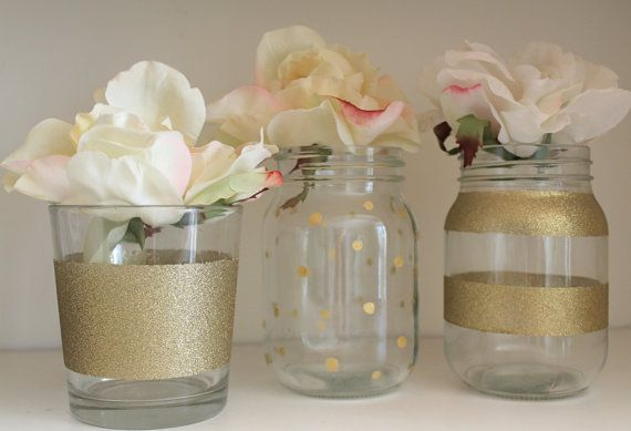 100+ Painted Mason Jars With Glitter – yasminroohi