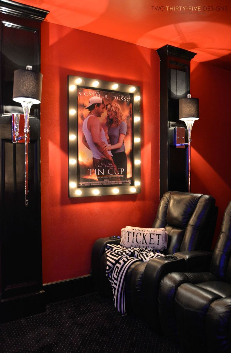 How to make home theater room - Diy Movie Poster Marquee Movie Theater Roomsmovie