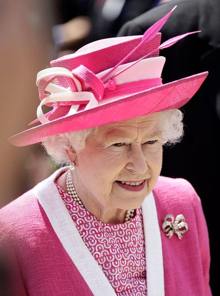Queen Elizabeth at Epsom Derby in June 2011