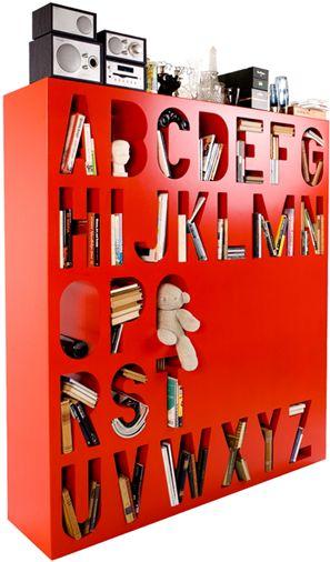 Alphabet shelf unit #typography