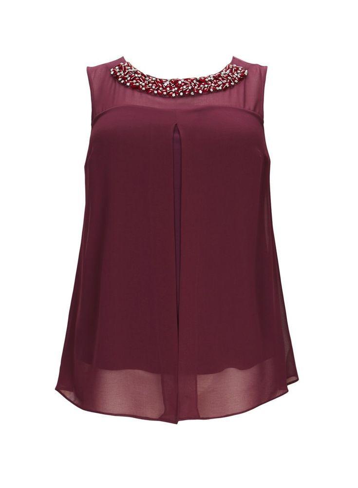 Ladies Purple Stud Top Tunic Grace Evans Oversize Plus Size