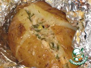 Картошка запеченная «Чесночно-сырная»