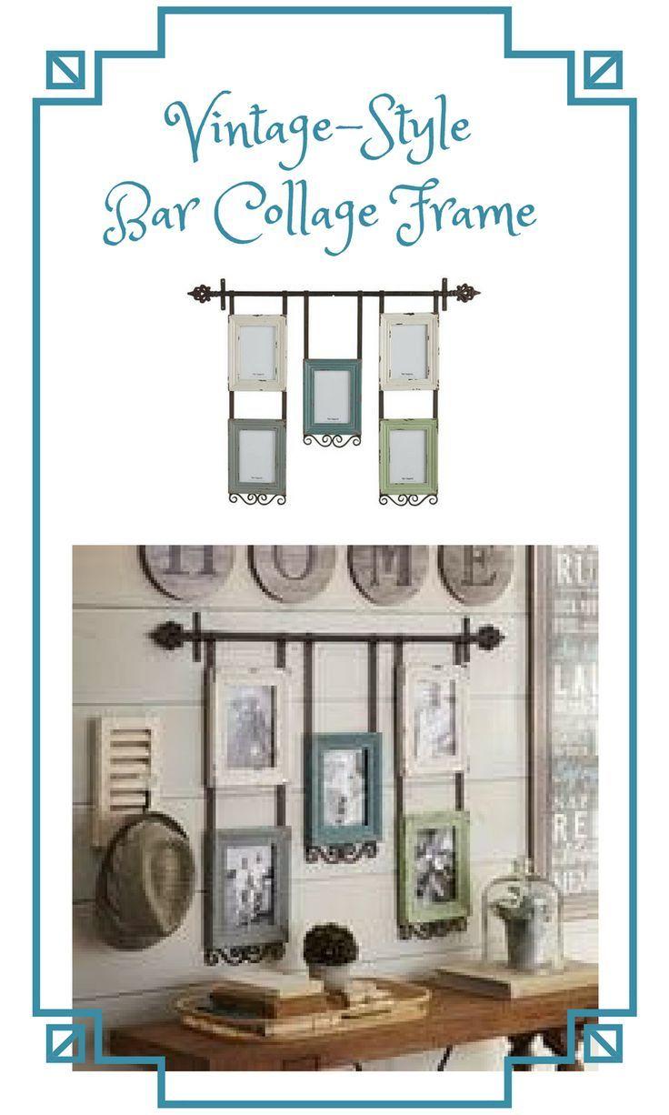 Vintage Style Bar Collage Frame Ad Frame Vintage Home