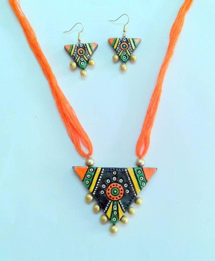 terracotta jewellery designs facebook - Google Search