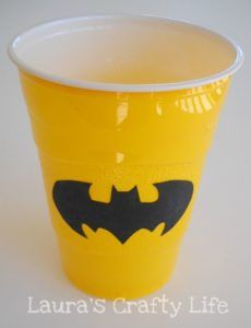 Batman-Birthday-Party-Ideas-for-kids-DIY-Party-Cup