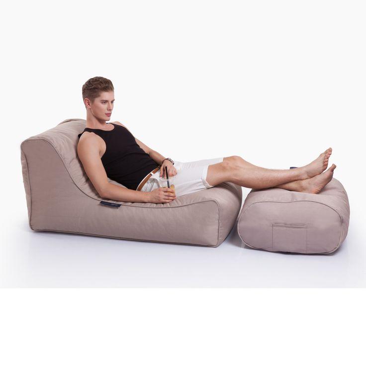 Cream Chaise Lounge| Bean Bag Sofa | Outdoor Bean Bag