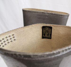Biba silver wellington boots bumps
