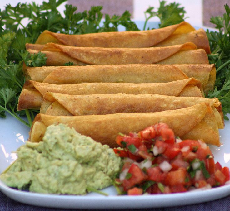 Got leftovers? Make some crispy Turkey Taquitos with a chunky avocado dip and a fresh Pico De Gallo Salsa. #ilovehomecooking #TurkeyTaquitos #Turkey #Taquitos #GuacamoleDip #Avocado #AvocadoDip #PicoDeGallo #PicoDeGalloSalsa
