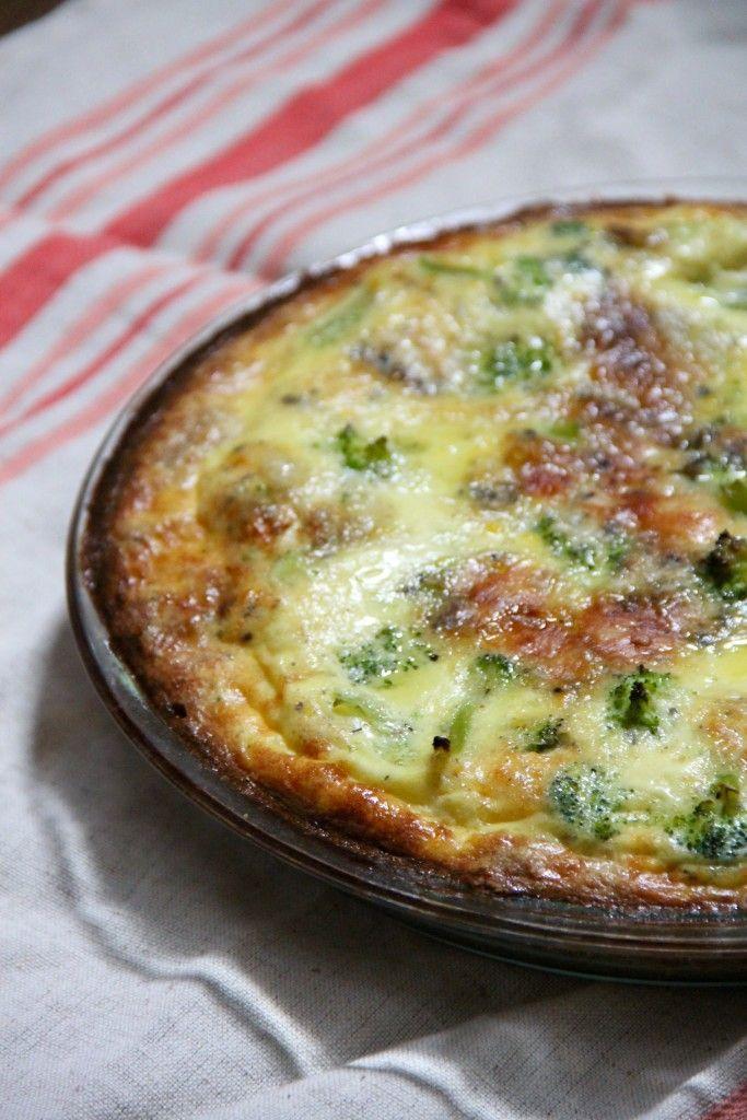 Broccoli Stilton Quiche
