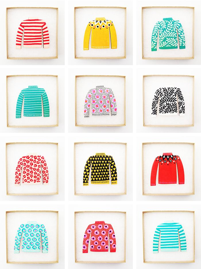 All these jumpers made by Amy Blackwell make us happy!