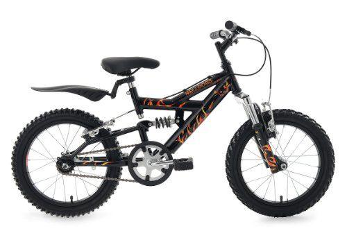 KS Cycling Kinder Fahrrad Mountainbike Helldogs RH 28 cm, Schwarz, 16, 805B