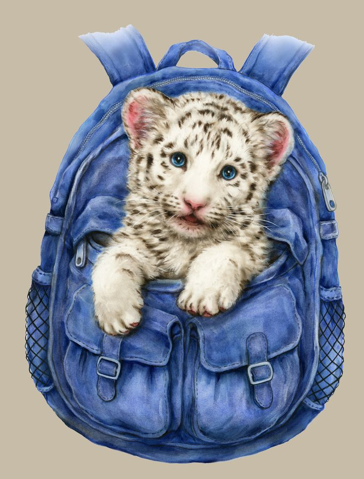 BACKPACK WHITE TIGER BY KAYOMI HARAI VISIT OUR WEBSITE www.lailas.com for more great images