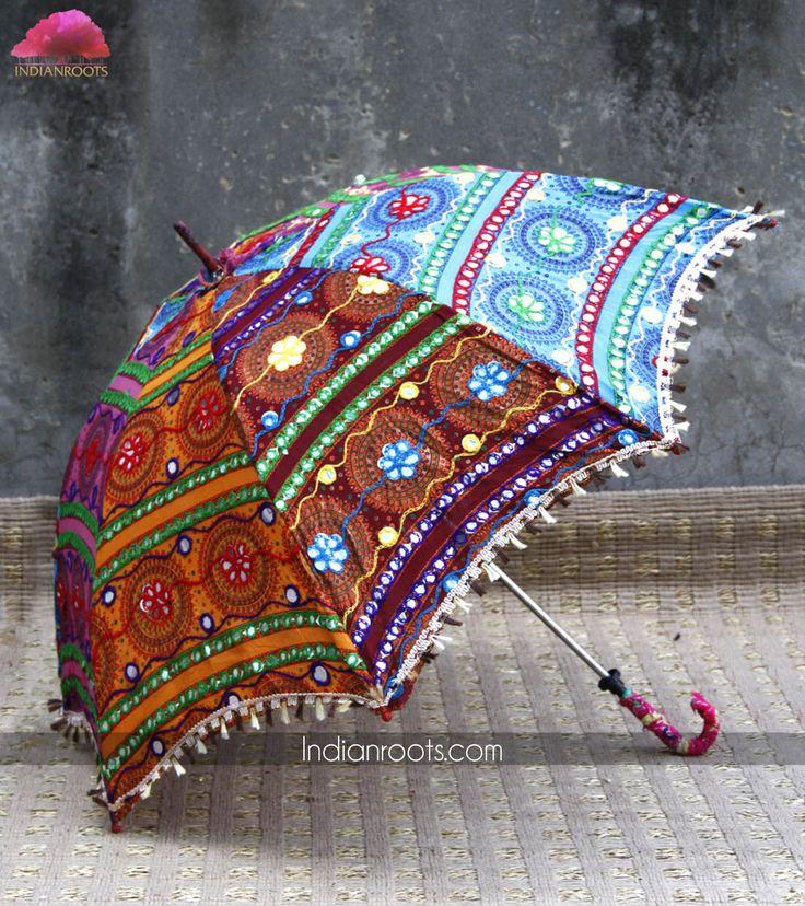 Handwoven Rajasthani umbrella made from cotton by Anshul Rajwansh on…
