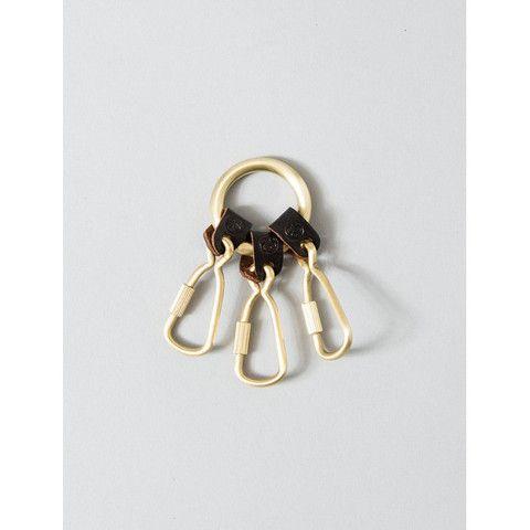STUSSY 3 PIECE KEY RING 138422-GOLD | Solestop.com