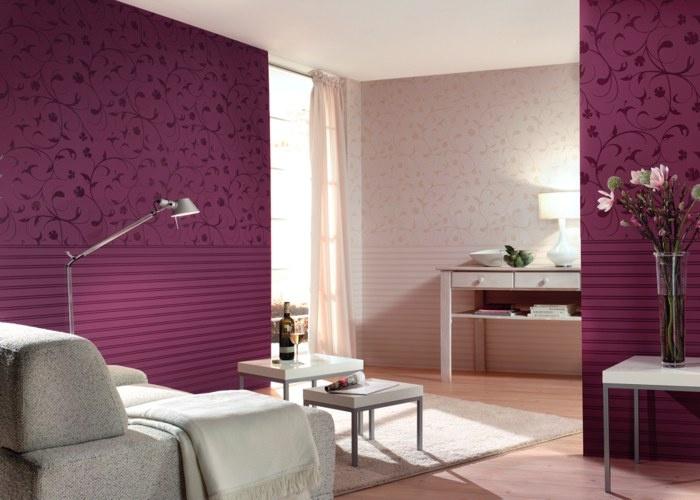 Romantische Tapeten / Flock II / Raumbilder / Florale Illusion    Fototapeten, Tapeten, Wandtattoos