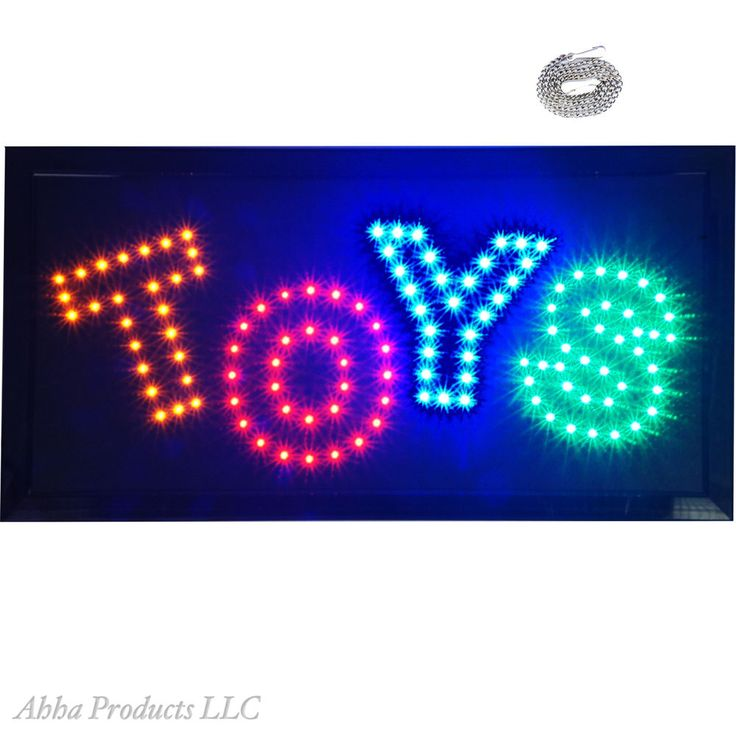 "Bright TOYS Kids Play R/C Child Toy Store LED Open Shop Sign Display 19x10"" neon #AhhaProducts"
