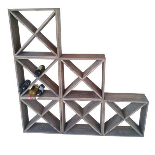 Stackable cube wine racks