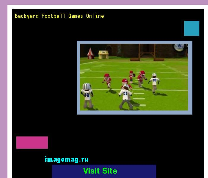 Backyard Football Games Online 180200 - The Best Image Search
