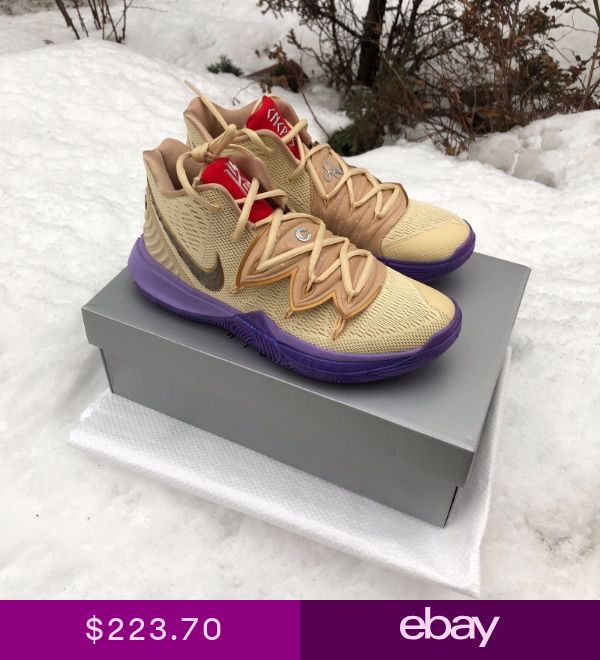29609fdb988d NIKE KYRIE V 5 CONCEPTS TV PE 3 IKHET Beige Purple Multi-Color CI0295-900  US8-13