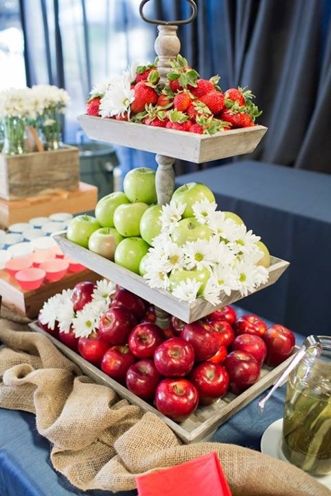 Americana Food Display from our Grand Opening Party... Food and display created by Lombardi's Catering and photos by Mallory Miya Photography