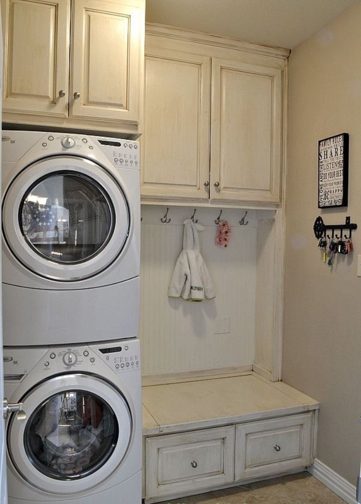 Top Laundry Room Ideas Stacked Washer Dryer