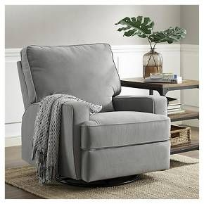 Baby Relax Rylan Swivel Gliding Recliner - Gray : Target. LOVE it!