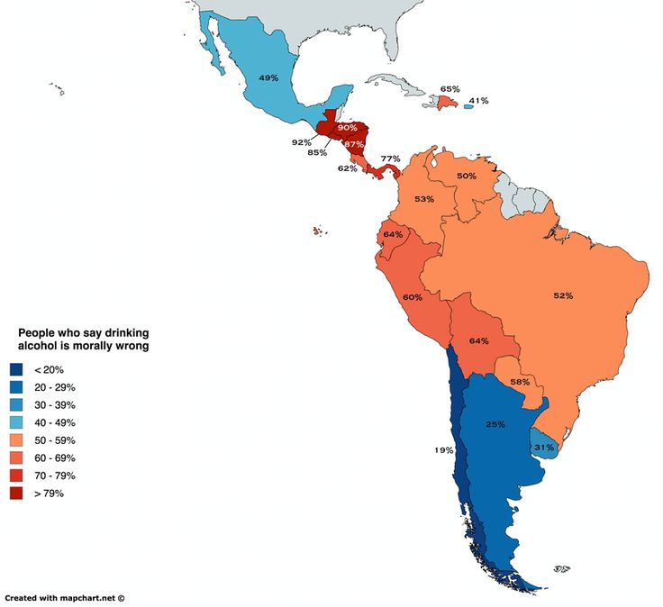 405 best maps infographics images on pinterest maps cards and percentage of people who say drinking alcohol is morally wrong in latin america oc gumiabroncs Image collections