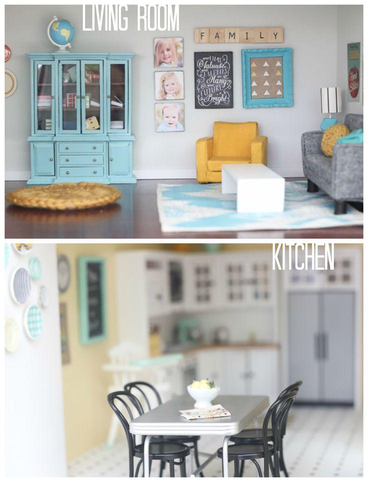 DIY dollhouse living room u0026 kitchen by