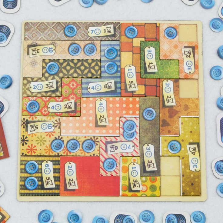 PATCHWORK Two People Against Table Party Board Game for Lovers Couples Partner to Play and Have Fun Patch Time Button Puzzle
