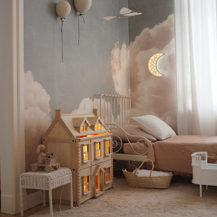 Blush Clouds Daydream  Wallpaper  Sweet dreams! Gorgeous kids room by @__katharinamaria feauturing our Blush Clouds Daydream. #kidsroom #clouds #cloudswallpaper #tapet  The post Blush Clouds Daydream  Wallpaper appeared first on Woman Casual.