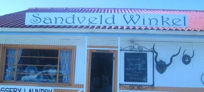Sandveldwinkel is a unique combination of Gifts, Arts,Curios, Decor,Paintings, Antiques, Sweets, Rooibos tea and Weekday Laundry