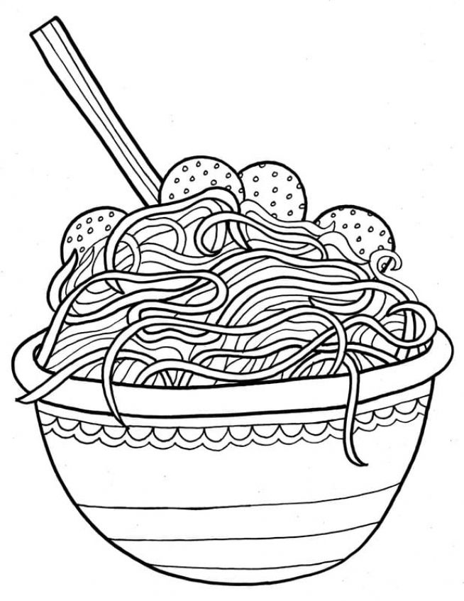 Spaghetti Meatballs 1 Coloring Pages Shopkin Coloring Pages Food Coloring Pages