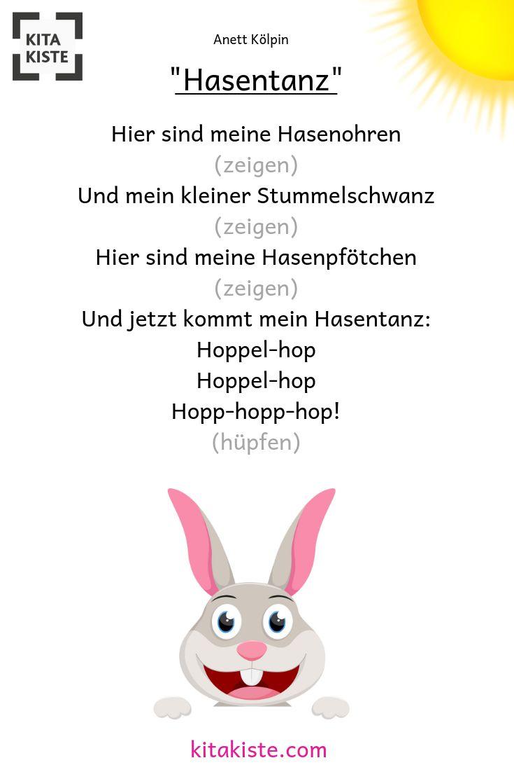 Hasen-Vers für #kleinkinder und #krippe, passt besonders gut zu #ostern, #tiere… – Kitakiste