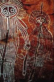 The Wandjina spirit drawings