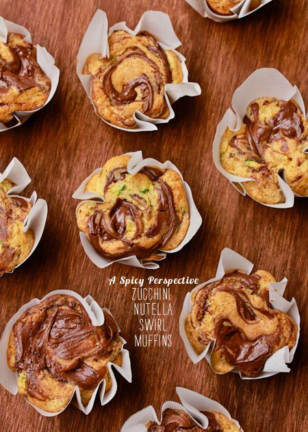 FoodieCrush Magazine A Spicy Perspective Zucchini Nutella Muffins