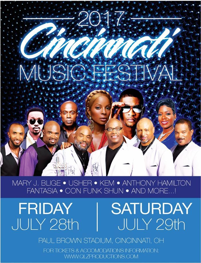 2017 Cincinnati Music Festival | July 28 – 29 at Paul Brown Stadium, Cincinnati OH
