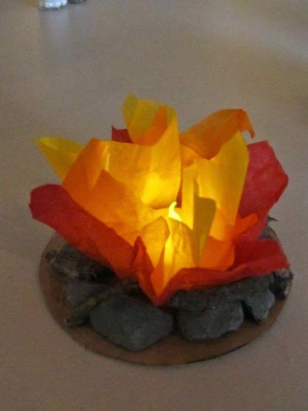 "tissue paper ""camp fire"""