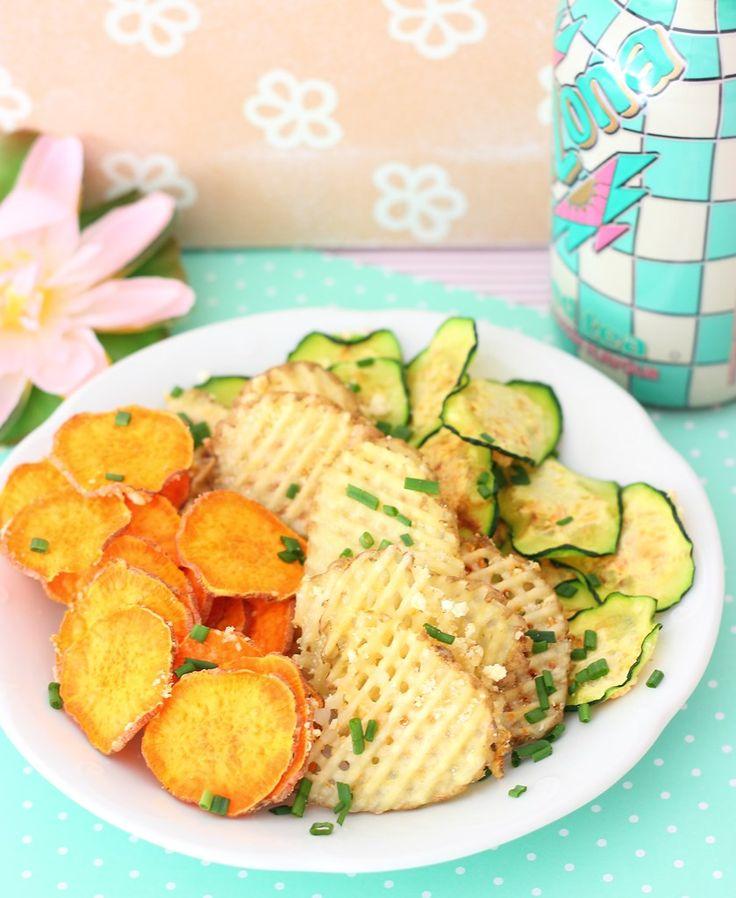 Chips de vegetales. Para evitar el picoteo de patatas fritas nada mejor que estos chips! vivir-mejor.com