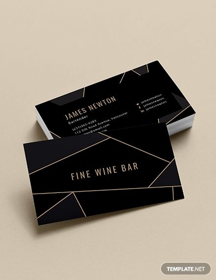 creative bartender business card business card templates designs 2019 pinterest business cards templates and business