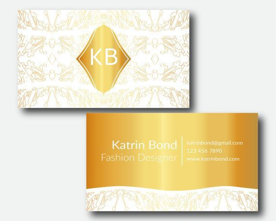 Business Card Template, Calling Cards, Custom Business Cards, Unique Business Card Template, Business Card Design, Gold Business Cards