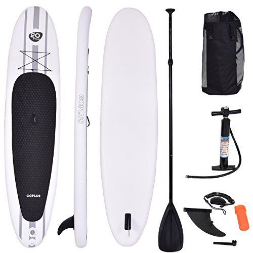 """This Goplus SUP board is the most stable inflatable standup paddle board for people of all skill levels. Measures 11'x30""""x6"""" when inflated & is just as firm & stable as other SUPs, can be rolled up into compact package for easy transport and storage. Paddle your way out... more details available at https://perfect-gifts.bestselleroutlets.com/gifts-for-holidays/water-sports-items/product-review-for-goplus-inflatable-11-cruiser-sup-standup-paddle-board-pa"""