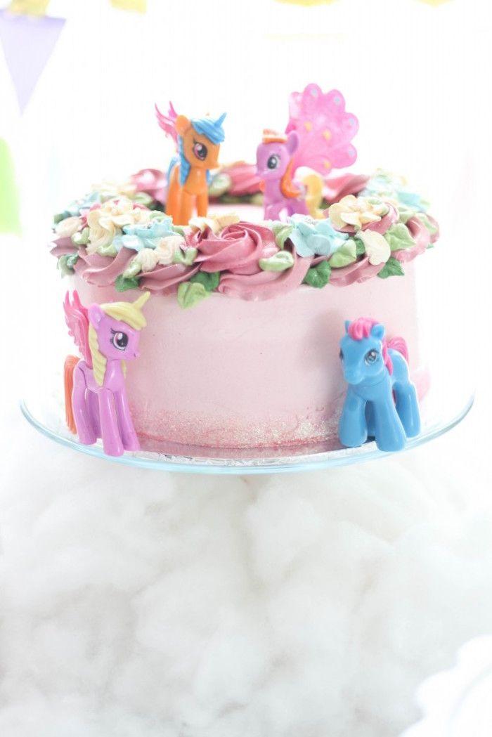 Cake from a Hot Air Balloon + Unicorn Birthday Party via Kara's Party Ideas | KarasPartyIdeas.com (5)