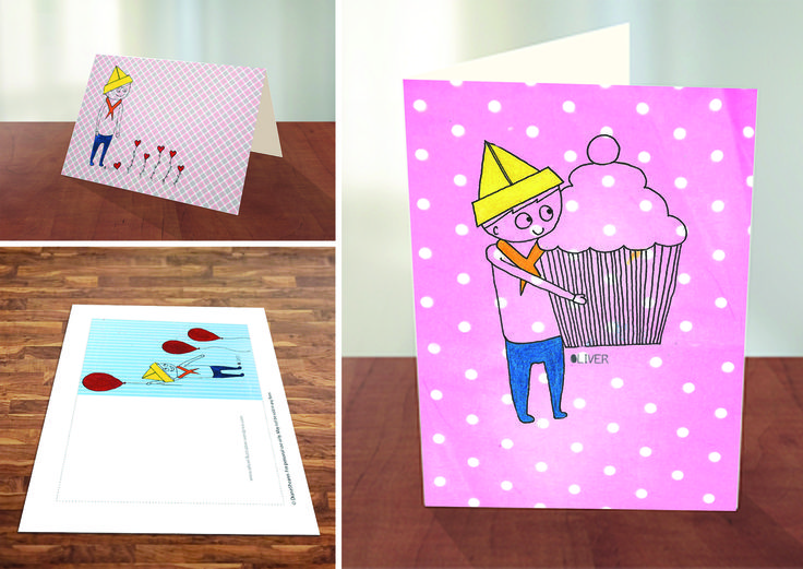 #Printable Oliver greeting #cards