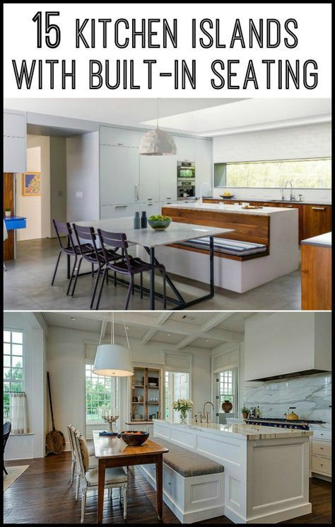Kitchen Island With Built In Seating Inspiration Dining Area Kitchens And Kitchen Design