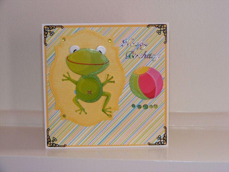 Wriggling Frog card