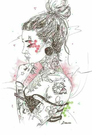 """""""Tattooed woman"""" DRONN"""